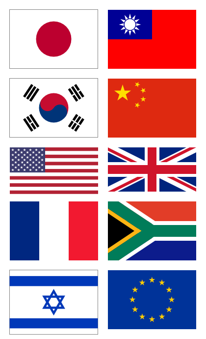 Inkscape で作った国旗10種