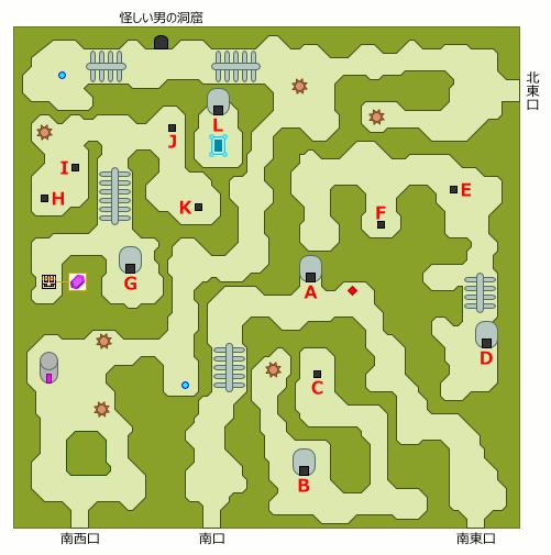 ドクロの森 地上部分 マップ